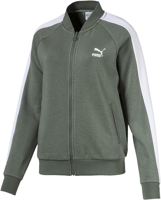 PUMA Classics T7 Track Jacket, FT Chaqueta, Mujer, Laurel Wreath, Medium