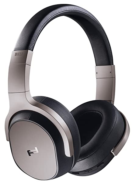 fe11ab1945a KEF Porsche Design SPACE ONE WIRELESS Over-Ear Noise Cancelling Bluetooth  Headphones (Silver)