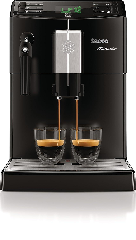 Saeco Minuto - Cafetera espresso super automática, con espumador ...