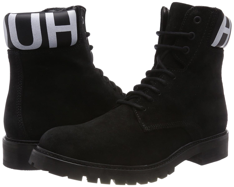 HUGO Herren (Black Explore_Halb_wxsd Combat Boots Schwarz (Black Herren 001) c02e9a