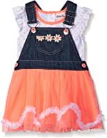 Little Lass Baby Girls' 2 Piece Tutu Skirtall Set Denim