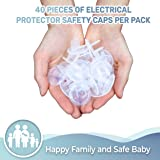 Clear Outlet Protectors (40-Pack) Child Proof