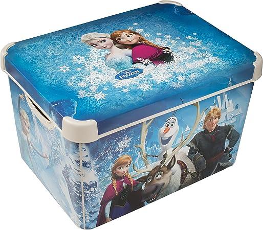 Caja de almacenamiento, diseño de Frozen: Amazon.es: Hogar