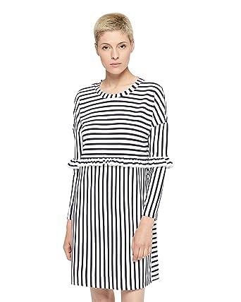 ONLY Jenni L/S Frill Kleid, Damen, Small, Altweiß: Amazon.de: Bekleidung