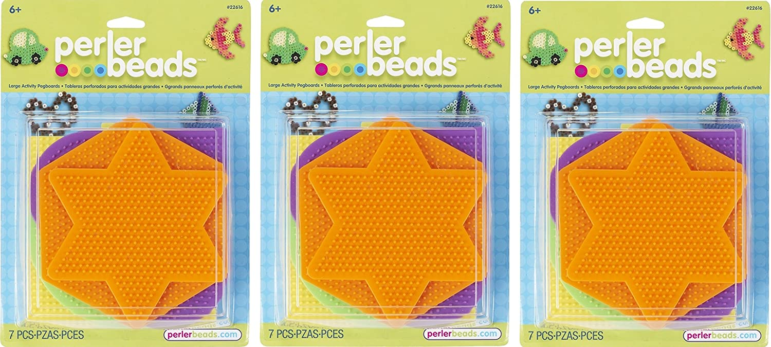 Perler 441736 Fun Fusion Pegboards 5-Pack-Assorted Colors (2 Pack)