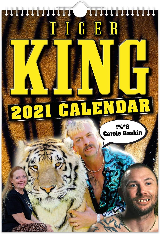 Tiger King Calendario de pared 2021 //// Divertido//extravagante//Navidad//Cumplea/ños//Idea de regalo//Presente//Novedad//Humor//Secreto Santa//Planificador de a/ño//Regalo de oficina