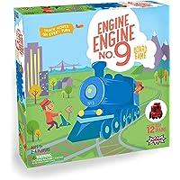 Amigo Engine Engine No. 9 - Juego de Mesa para niños con 12 Trenes de Juguete