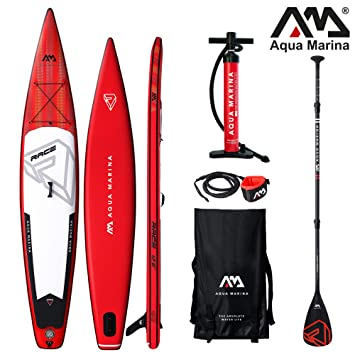 Aqua Marina Race ISUP - Tabla de Paddle Surf Hinchable (381 x 66 x 15 cm): Amazon.es: Deportes y aire libre