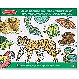 Melissa & Doug Jumbo Colouring Pad (30 x 36 cm) - Animals, 50 Pictures