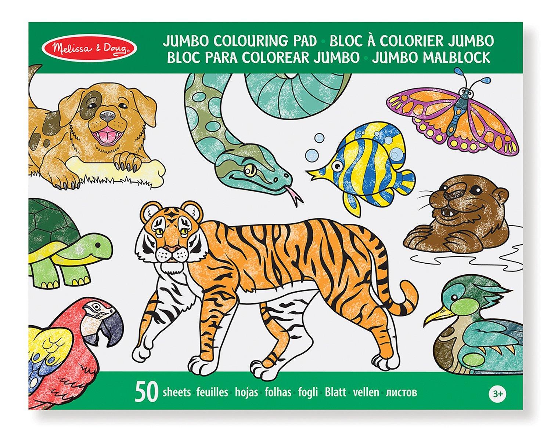 Melissa & Doug Bloc € Colorier D Animaux Jumbo Amazon Jeux et Jouets