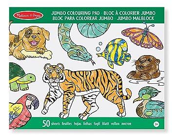 Melissa & Doug Jumbo Colouring Pad (30 x 36 cm) - Animals, 50 ...