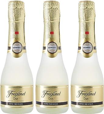 FREIXENET - Cava Semiseco Mini Nevada Pack 3 Botellas 20 Cl: Amazon.es: Alimentación y bebidas