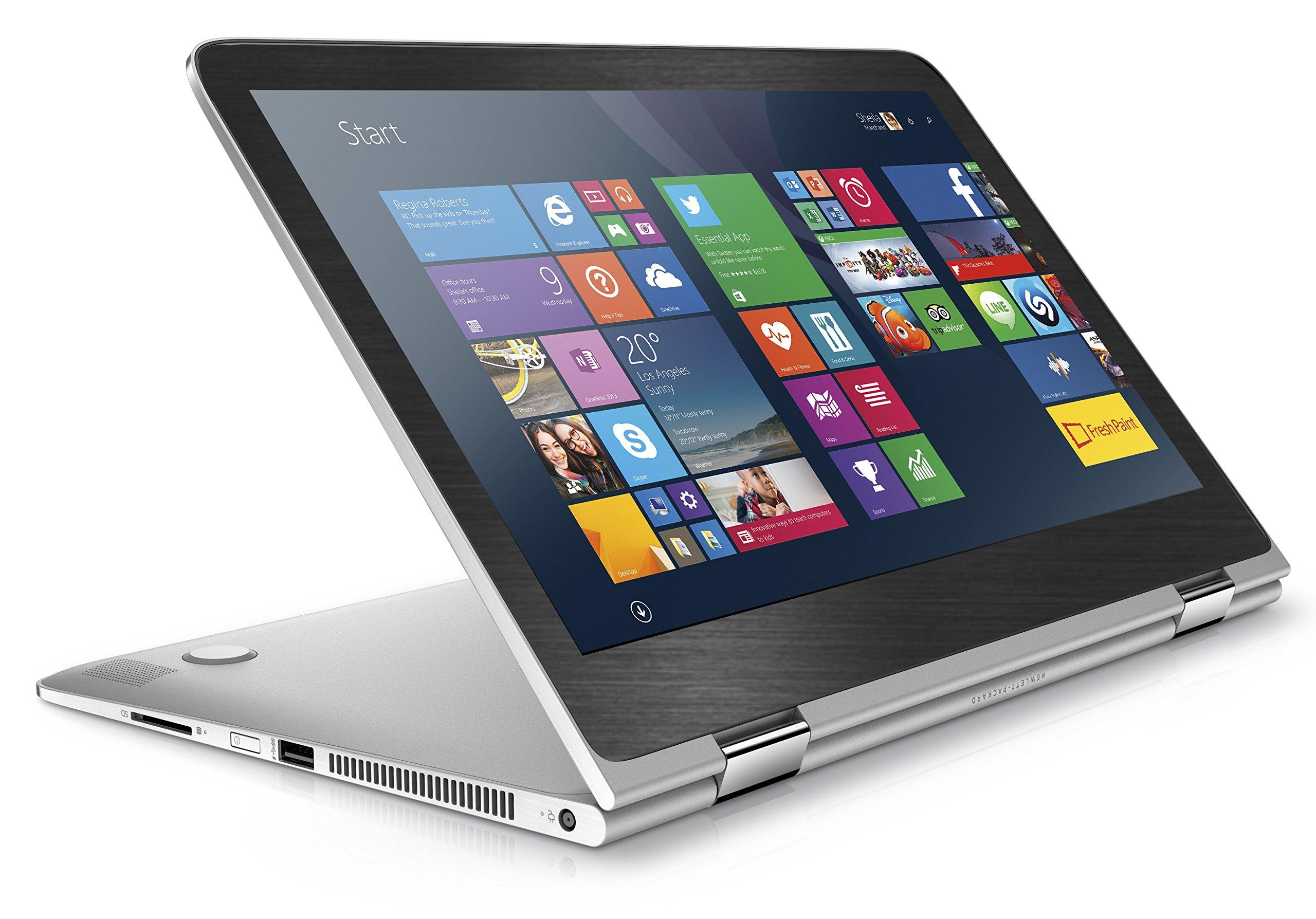 Black Brushed Aluminum skin decal wrap skin case for HP Spectre x360 13.3'' Laptop