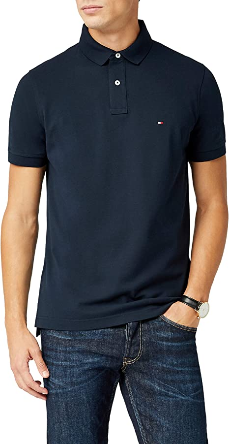 Tommy Hilfiger Herren Logo Embroidery Regular Polo Poloshirt