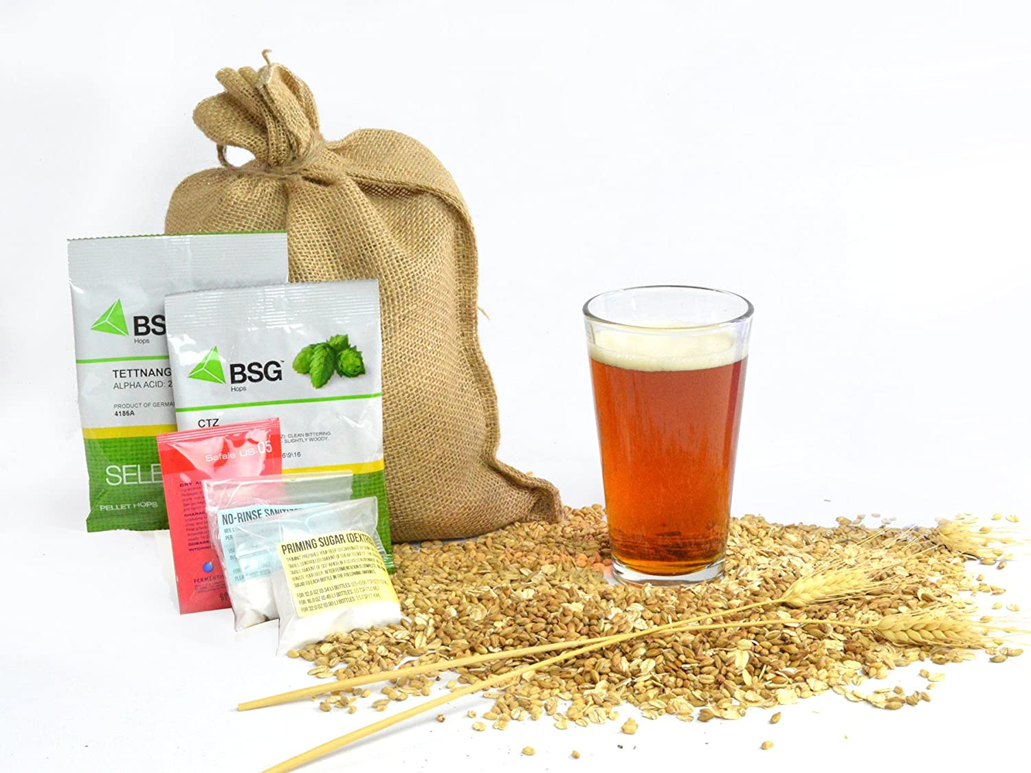 1 Gallon Home Brewing Homebrew Recipe Kit, Bootlegger Rye IPA, 5.9% Box Brew Kits COMINHKPR66593