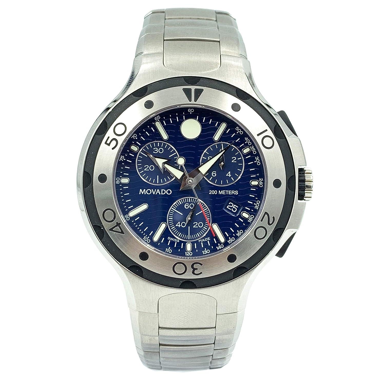 6553b60b3 Amazon.com: Movado Series 800 Quartz Male Watch 2600020 (Certified  Pre-Owned): Movado: Watches