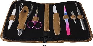 inkgrafix® Beauty Set piel – Estuche Manicura (7 piezas – Clavos Set – – Acero Quirúrgico – ig24541: Amazon.es: Joyería