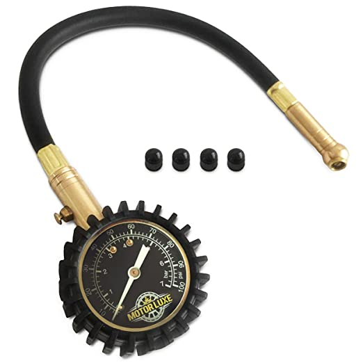 12 opinioni per Motor Luxe Manometro Pressione Pneumatici 100 PSI / 7 Bar- Preciso e Robusto