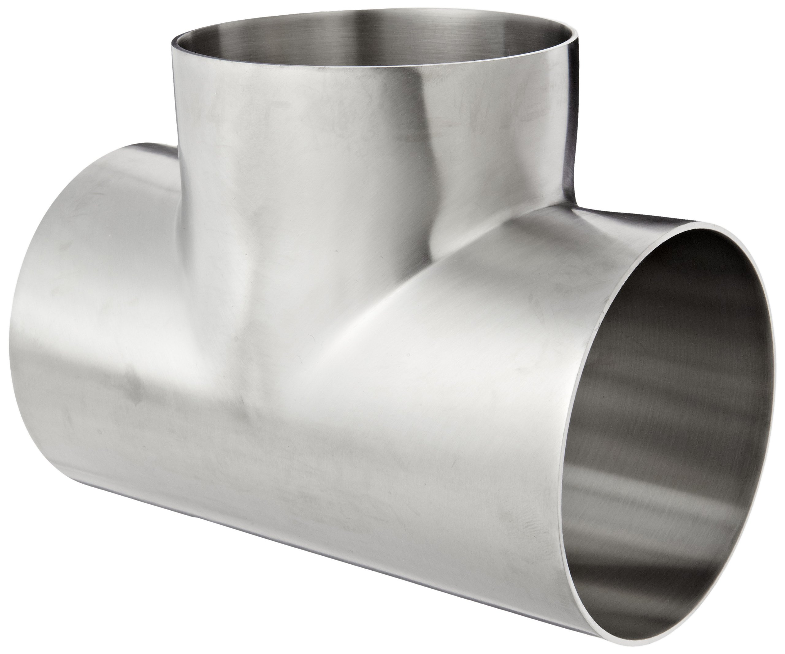 Dixon B7WWW-R400P Stainless Steel 316L Polished Fitting, Weld Short Tee, 4'' Tube OD