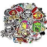 Nuoxinus Car Stickers [100pcs], Laptop Stickers Skateboard Luggage Bike Motorcycle Bumper Stickers, Snowboarding Guitar Helmet Phone Graffiti Decals Vinyls, Fashion Cool Unique Mix Lot Random Pack