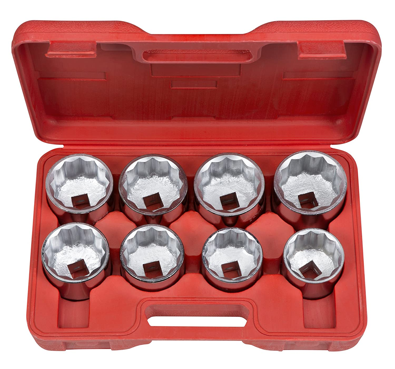1110 Inch 8-Sockets 2-1//16-Inch TEKTON 3//4-Inch Drive Jumbo Socket Set 2-1//2-Inch
