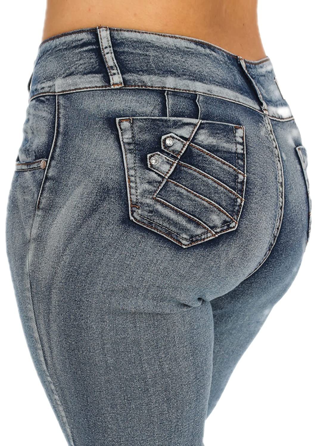 Plus Size Cheap But Lifting High Waist Washed Denim Jeans