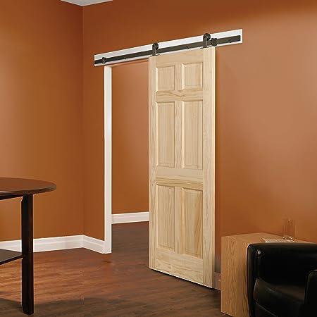 "6/' 11/"" FT Modern European Style Steel Wood Sliding Barn Door Hardware Set"