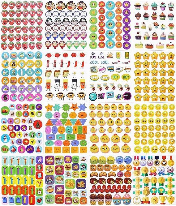 Scrapbooks Planners Teacher Stickers Reward Stickers Spelling Bee Award Stickers for Teachers Kids Students ~ Over 75 3-Dimensional Spelling Bee Stickers Calendars