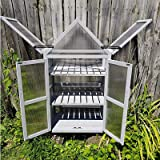Mini Green House Kit Cold Frame for Outdoor Indoor Garden with Wall Bracket and 2 Adjustable Shelves