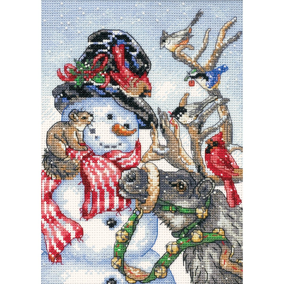 Dimensions 08824 Needlecrafts Counted Cross Stitch, Snowman and Reindeer