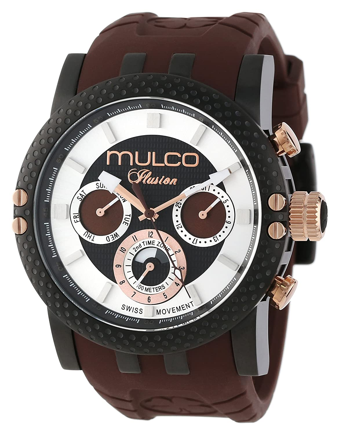 MULCO Herren MW3-11169-035 Lincoln Illusion Chronograph Analog Swiss Movement Uhr