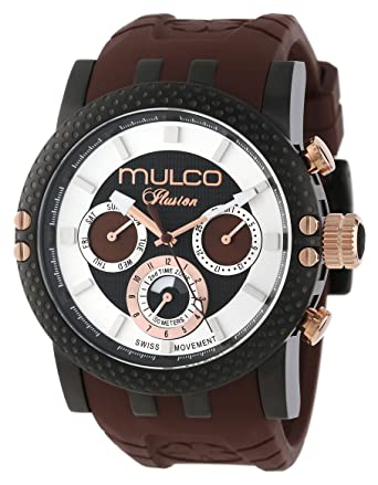 MULCO Mens MW3-11169-035 Lincoln Illusion Chronograph Analog Swiss Movement Watch