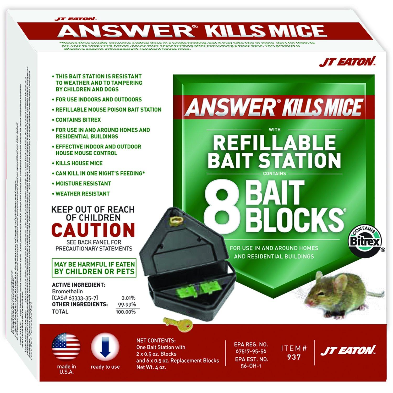 JT Eaton 932 2-Pack Top Gun Disposable Mouse Bait Station with 1-Ounce of Bait J.T. EATON