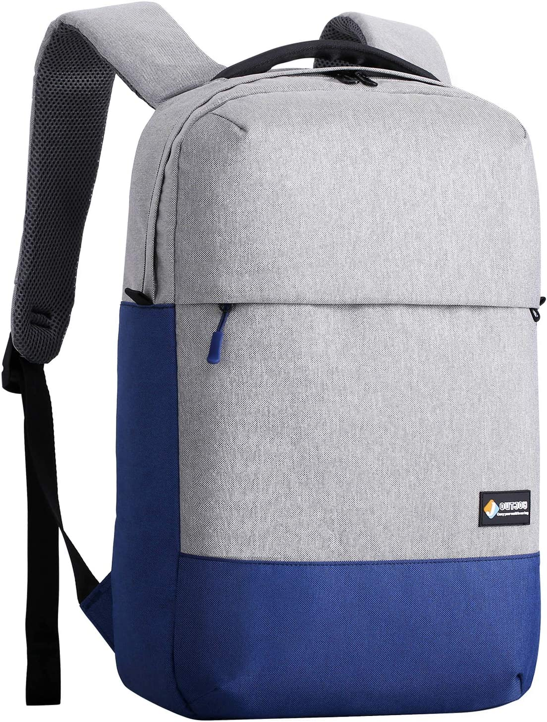 Amazon Com Outjoy Laptop Backpack For Men Lightweight Waterproof Anti Theft Travel Backpack School Backpack Computer Backpack Laptop Bag For 15 6 Inches Notebooks For Business Work College Blue And Grey