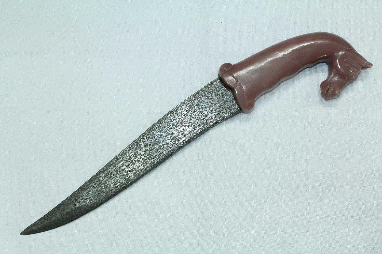 PH Artistic Dagger Cuchillo Damasco Hoja de Acero Natural ...