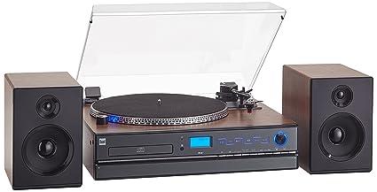 Dual NR Minicadena con Tocadiscos (Reproductor de CD, MP3, 3,5 mmm ...