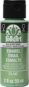 FolkArt Enamel Paint, Silvery Green Metallic