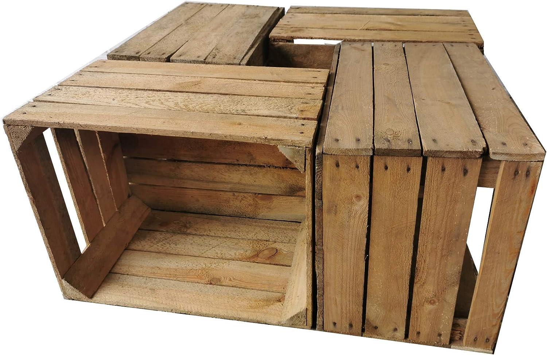 Teramico Cajas de Madera de la construcción de Frutas, 50 x 40 x 30 cm, Estilo Vintage, Maciza y Limpia, Estilo Shabby Chic: Amazon.es: Hogar