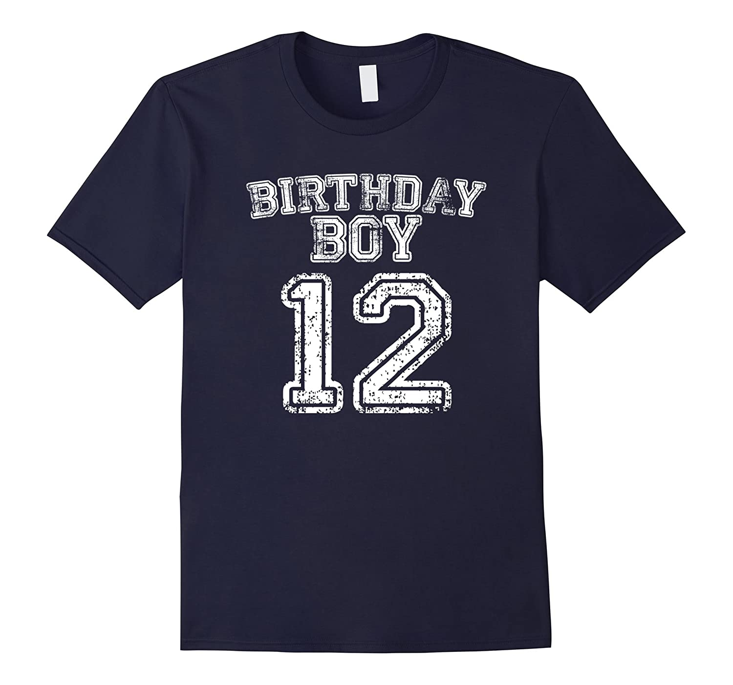 12th Birthday Sports Jersey T Shirt - 12 Year Old Boy Tee-BN