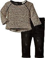 Appaman Kay Top Denim Knit Jegging Set (Baby)