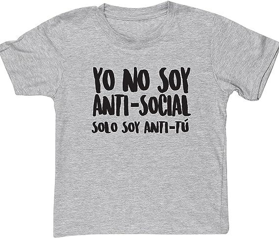 HippoWarehouse Yo no soy Anti-Social Solo Soy Anti-Tú camiseta manga corta niños niñas unisex: Amazon.es: Ropa y accesorios