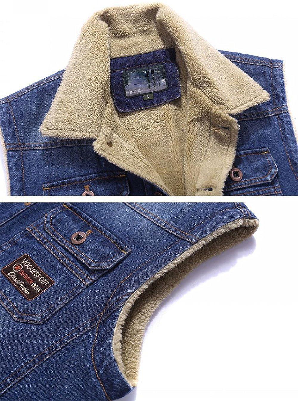 VET.FIS Giacca in Cotone Casual da Uomo Outdoor Multi Tasche