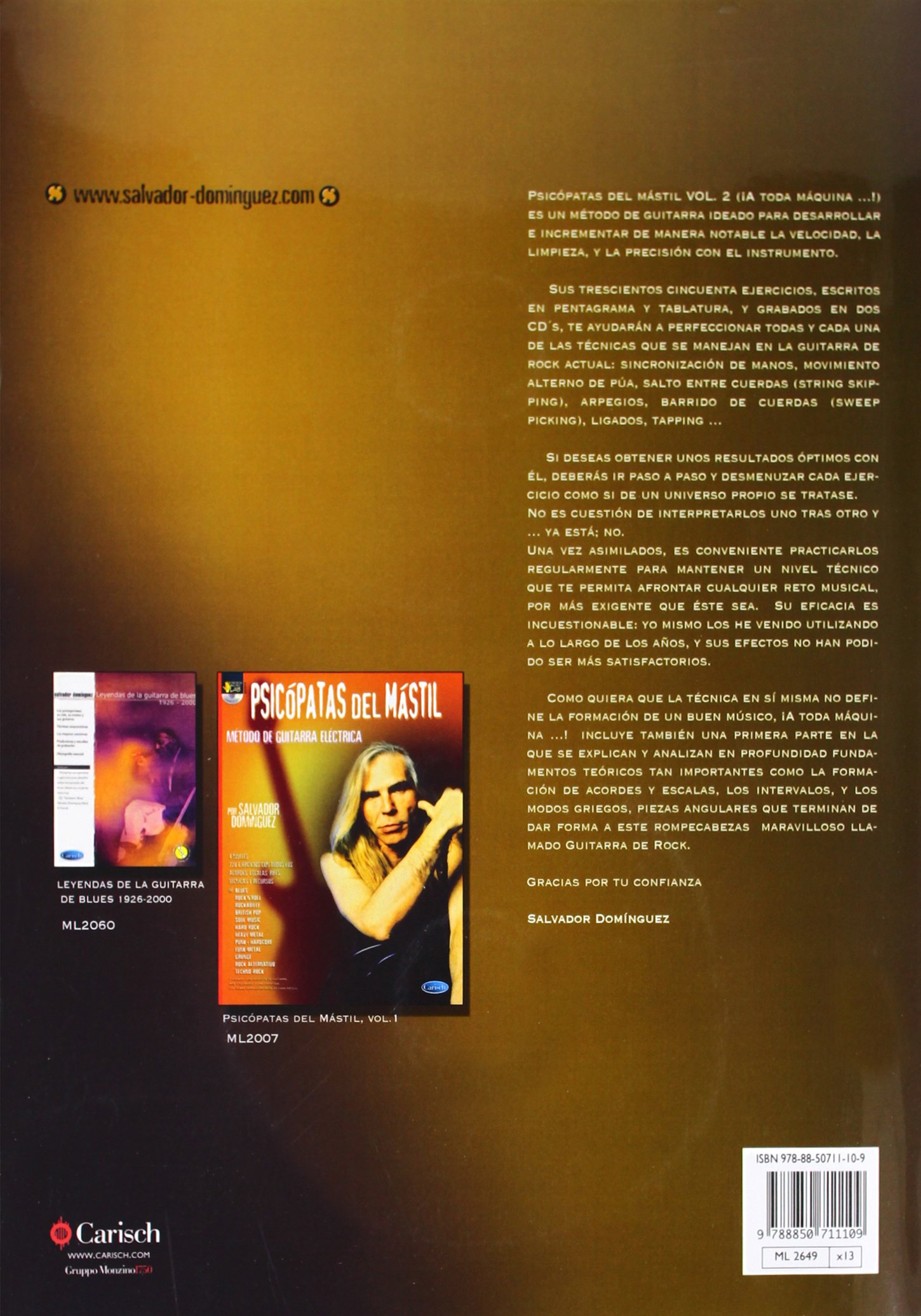 DOMINGUEZ S. - Psicopatas del Mastil Vol.2 para Guitarra Tab (Inc.2 CD): DOMINGUEZ S.: 9788850711109: Amazon.com: Books