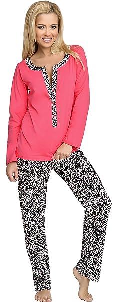 Be Mammy Mujer Lactancia Pijamas Dos Piezas Alice (Coral, S)