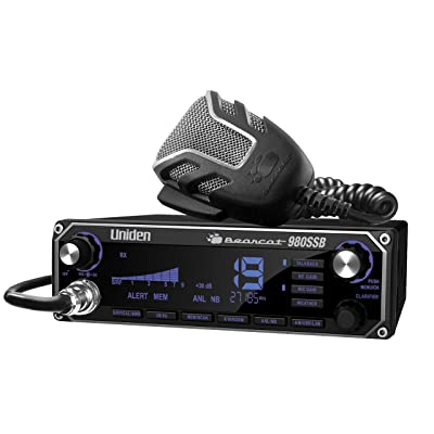 Uniden BEARCAT 980 40- Channel SSB CB Radio with Sideband NOAA WeatherBand,7- Color Digital Display PA/CB Switch and Noise Cancelling Mic, Wireless Mic Compatible: Electronics [5Bkhe0901150]