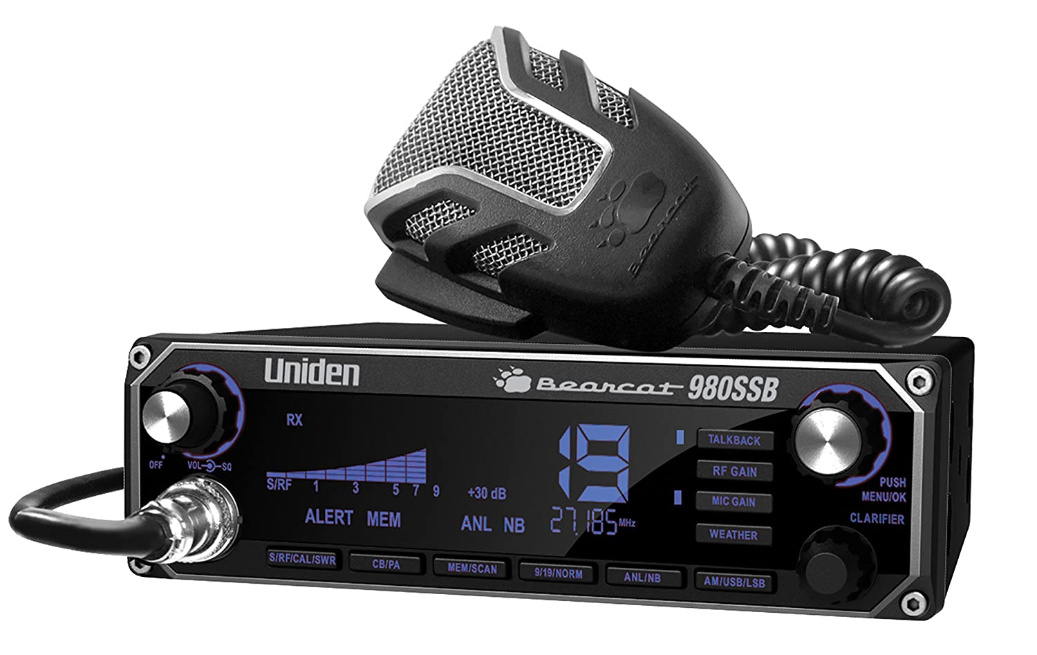 Uniden BEARCAT CB Radio With Sideband And WeatherBand (980SSB)