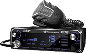 Uniden BEARCAT 980 40- Channel SSB CB Radio with Sideband NOAA WeatherBand,7- Color Digital Display PA/CB Switch and Noise Cancelling Mic, Wireless Mic Compatible