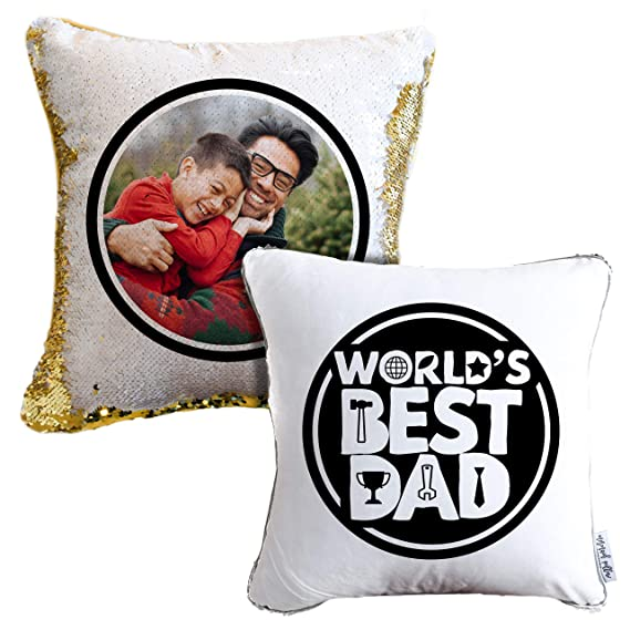 Amazon.com: Add Your Photo Fathers Day Mermaid Pillow ...
