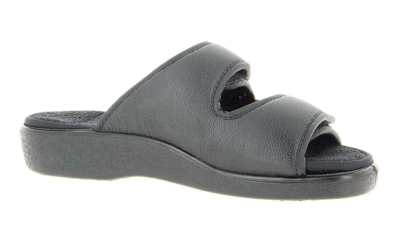 komplett zu /öffnen, Wechselfu/ßbett abwischbar Damen und Herren Therapieschuh Verbandschuh Erwachsene Sandale Hausschuh VAROMED Torun 58909 Unisex Klettpantolette