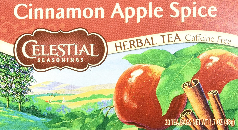 Celestial Seasonings Herbal Tea, Cinnamon Apple Spice, 20 Count (Pack of 6)
